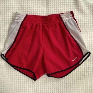 Nike Fit Dry XS 0-2 red white black trim shorts